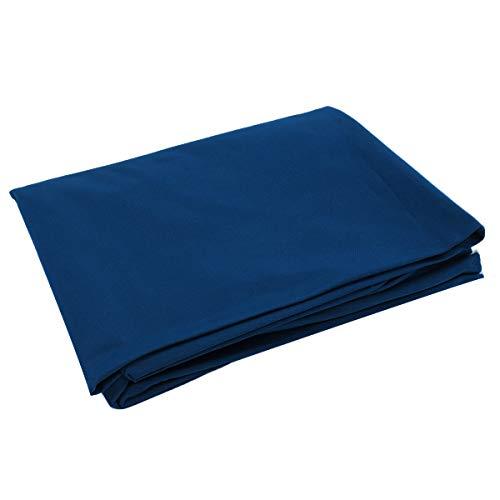 EsportsMJJ 2,5 x 1,45 m enkelzijdige biljart zwembad Snooker tafelkleed voor 7/8 inch tafel Blauw