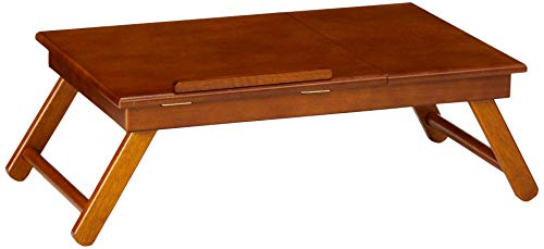 Buy Bargain Winsome Anderson, Flip Top with Drawer, Foldable Legs Lap Desk, Teak