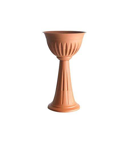 Bama BAM169 Vaso Colonna Interno Esterno Giardino fioriera plastica Terracotta vasi 100PercentMADE in Italy