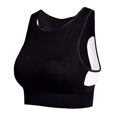 NEEKY Damen Sport BH Racerback Sport BHS - Gepolsterte Nahtlose High Impact Unterstützung für Yoga Gym Workout FitnessDamen BH Mit BüGel Triumph(M,Schwarz)