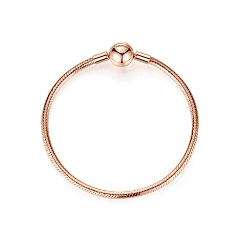 HMKLN Sterling Silber Rose Essenz Armbänder Armreif Fit Europäischen Charme Original Pan Armband Für Frauen DIY Schmuck