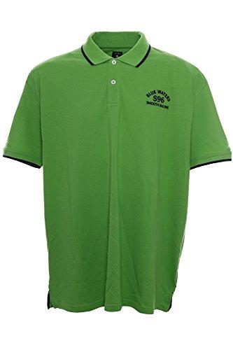 Kitaro Polo Poloshirt Herren Kurzarm Plusgröße Übergröße, Farbe:grün;Herrengrößen:3 XL