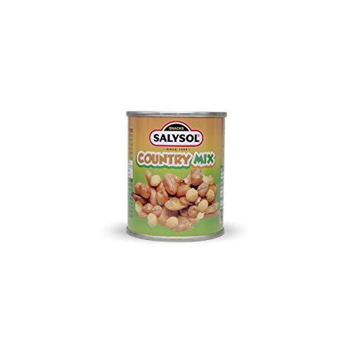 Salysol Delicioso Sabor Crujiente Country Mix (Cacahuetes, habas, garbanzos, bola de maíz y aceite de girasol) Snacks Saludables Envasados al Vacío Sabor Dulce Proteína