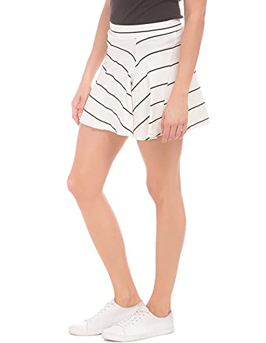 Sugr by Unlimited Women's A-Line Skirt (272445388 Non Denim Bottom OFF-WHITE 26)