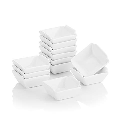 MALACASA, Series Ramekin, 12-Piece 2,5'(6.2 * 6 * 3 cm) Porcelana de Vajillas Cuenco de Postre Porcelana Snack Aperitivo Cuencos - Cuenco de Postre