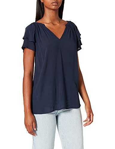 Esprit 071EE1F303 Blusas, 400/azul Marino, 44 para Mujer