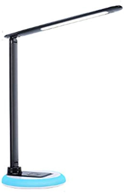 LICIDI LED Drahtlose Ladelampe Multifunktion Sieben Farbig Falt-Learning Büro-Leingeschlagen Augenschutz Smart Tischlampe [Energieniveau A]