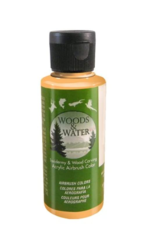 Badger Air-Brush Co. 4-Ounce Woods and Water Airbrush Ready Water Based Acrylic Paint, Orange