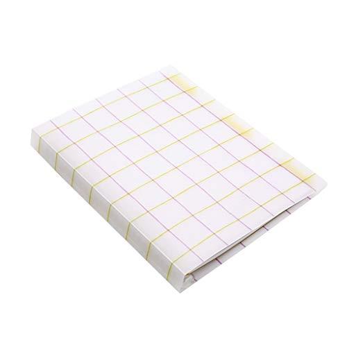 Cuadernos de Diario en Blanco de Papel Rayado Plan Cuadros de Hojas Sueltas Cuaderno Transparente Diario Cuadrícula Papel de Cuaderno Cuaderno Regalo A5 B5 Oficina Reunión Registro Paquete de Trabajo