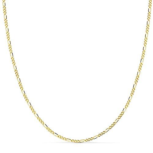 60cm solide 18k Goldkette. 3x1 Verbindungsbreite 1 mm. 3,75 g. [9454]