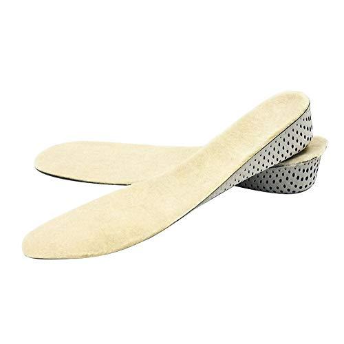 MOUHIV Elevación de la altura Plantillas Elevadores de tacón que absorben los golpes La lana de cordero se eleva 4cm para botas/tacones/calzado deportivo/zapatillas de deporte para hombres y mujeres
