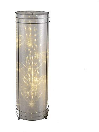 Dekolampe mit 24 rotierenden LED, Dekoleuchte aus Metall mit Sternmotiv Folie 45 cm
