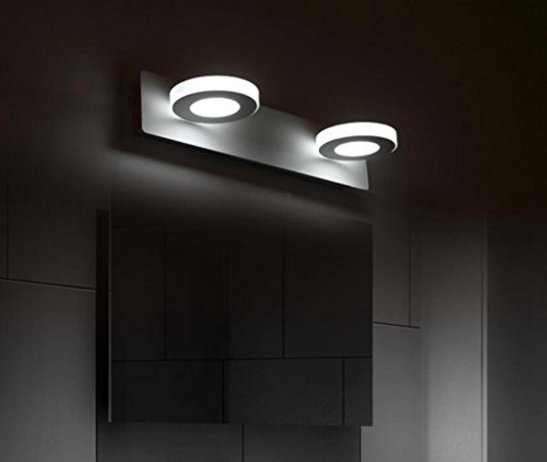 MSAJ-Einfache moderne LED-Spiegel der vorderen Scheinwerfer Badezimmer Badezimmer Spiegel, Leuchten 2 Leiter