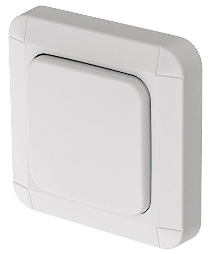 Brennenstuhl BrematicPRO Smart Home Wandschalter für innen und aussen (Funk-Wandtaster zum Kleben oder verschrauben, steuerbar über App)