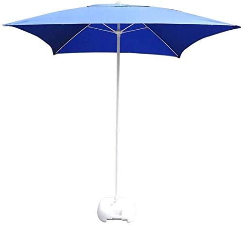 Dstervl Ombrellone da Giardino Blu Scuro, ombrellone da Tavolo Quadrato Regolabile, Adatto per Il Nuoto in Spiaggia all'aperto, Protezione Solare e Protezione dalla Pioggia