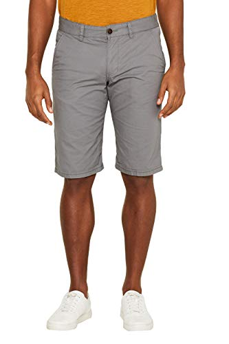 edc by ESPRIT Herren 999CC2C800 Shorts, Grau (Dark Grey 020), 32 W