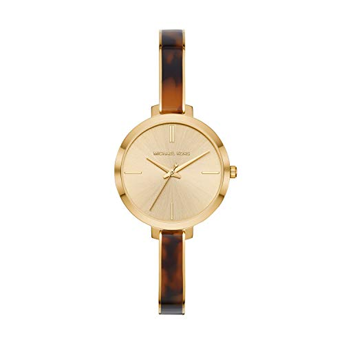 Michael Kors Women's Jaryn Quartz Watch with Stainless-Steel-Plated Strap, Gold/Multi, 8