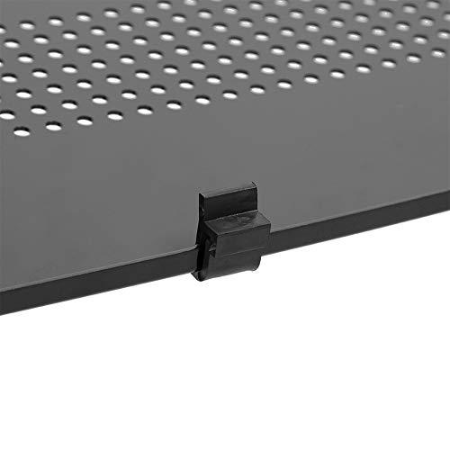 minifinker Soporte de Mesa para computadora portátil, Escritorio Antideslizante Ajustable de aleación de Aluminio para Lectura para Oficina(Black)