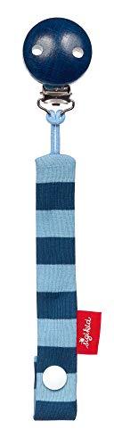 SIGIKID Jungen, Schnullerband Elefant Lolo Lombardo, mit Holzclip, empfohlen ab  0 Monaten, blau, 39295