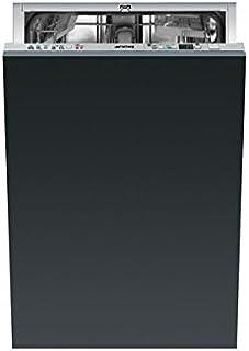 Smeg STA4515 lavavajilla - Lavavajillas (Totalmente integrado, Negro, 45 Db, 70 °C, 24h, A++)