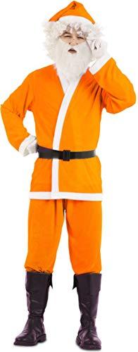 EUROCARNAVALES S.A. Disfraz de Papá Noel Naranja para Hombre Talla M/L
