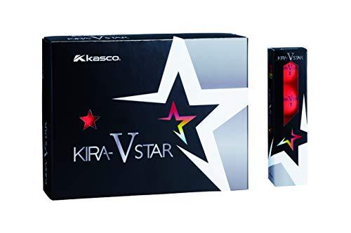 キャスコ(Kasco) ゴルフボール KIRA STAR V キラスターV ユニセックス キラスターVN レッド 最適ヘッドスピード: 25~45 2ピースボール: 1コア+1カバー 4個入り