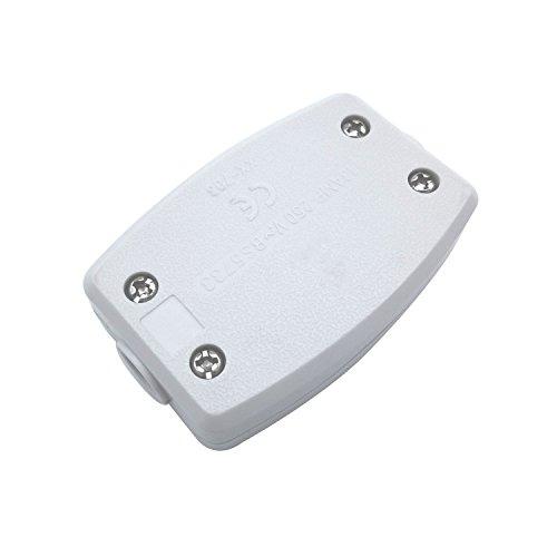 2 Pack 3 Klemmstecker Anschlussdose Elektrische Anschlussdose LED Elektrische Anschlussdose LED Leitungsdose Weiß
