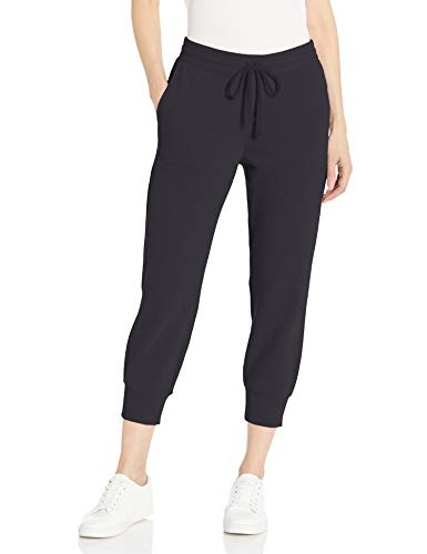 Amazon Essentials French Terry-Pantaloni da Jogging in Pile Capri Athletic-Pants, Nero, US M (EU M-L)