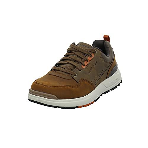 Skechers Herren Rozier Mancer Brauner Leder-/Synthetik Sneaker Größe 43 EU Dark Brwon