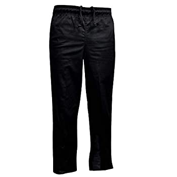 Natural Uniforms Classic Chef Pants  XXX-Large Black Single