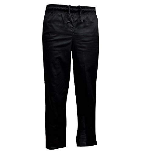 Natural Uniforms Classic Chef Pants (Medium, Black Single)