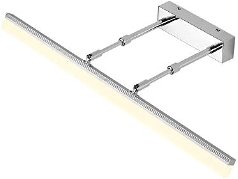 Modernes, Minimalistisches Acryl Wei Wc Wasserdicht Beschlagfrei, Led-Wandleuchte Spiegel Scheinwerfer (Farbe  Silber Warmes Licht -50 Cm)