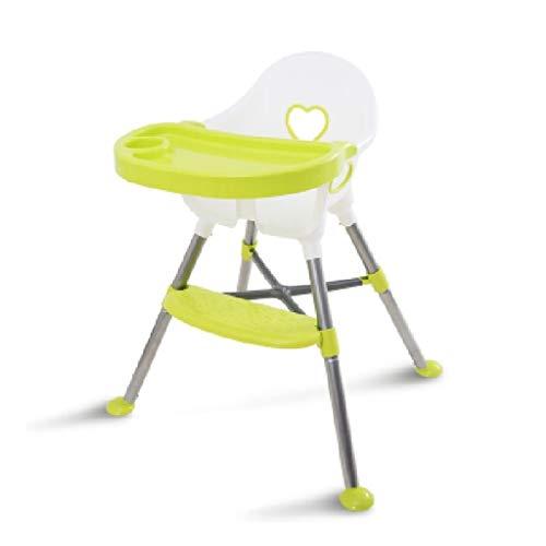 CML Infantil Silla de Comedor de bebé multifunción Mesa de Comedor y Trona portátil IKEA Plástico Silla de Comedor Rojo Blanco Fácil de Usar (Color : Green)