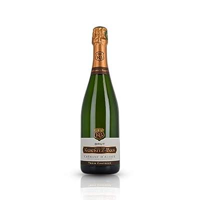 Kuentz Bas - Cremant Trois Chateaux Brut | Organic Sparkling French Wine | Standard 75cl Bottle