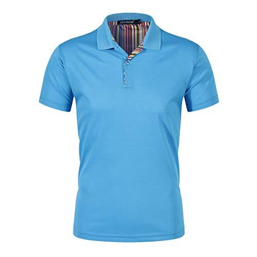 Camiseta Polo de Golf de algodón para Hombre Camiseta de Manga Corta con...
