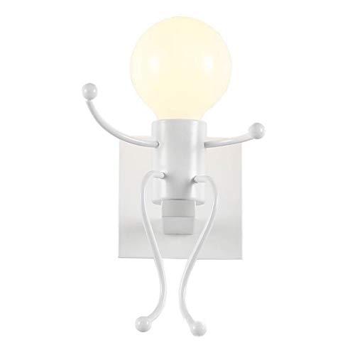 OocciShopp Luces de Pared de Forma Humana Moderna Lámpara de Pared de Dormitorio LED Decoración del hogar de Metal Forjado para Sala de Estar Iluminación de Escalera Lateral de Cama (Cabeza única)