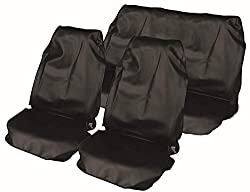 "Streetwize Product Streetwize HDWS Black Heavy Duty Waterproof Black- [2 Front/1 Rear] Full Set ""Nylon"" Seat Protectors- In Zip Bag"
