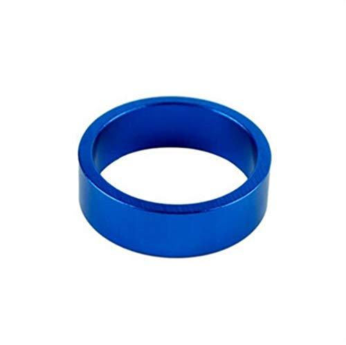 KDHJY Gute Qualität 1/2/5 Stück Aluminium-Bike Headset Waschmaschine Gebirgsfahrrad Federgabel Waschmaschine Bike Vorbau Lenker Verbreiterungen Ring Dichtung Spacer (Color : Blue, Size : 1pcs)