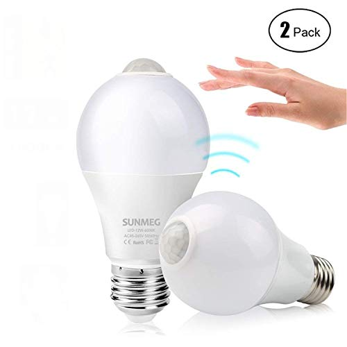 Sunmeg Motion Sensor Light bulb 2 Pack