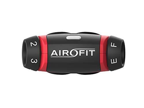 Airofit Atemtrainer, trainiert Muskeln der Atemwege, misst Atemvolumen und Atemkraft, mit kostenloser mobiler App, steigert körperliche Leistung
