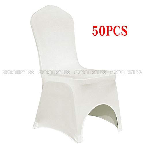 TimmyHouse Universal Stretched Spandex Elastic Chair Covers Wedding Party Banquet Ivory x 50