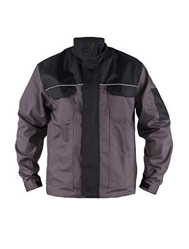 TMG® Herren Arbeitsjacke Bundjacke - leichte Jacke für die Arbeit für Handwerker - grau - XL