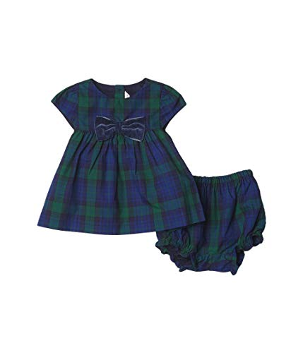 Janie and Jack Baby Girl's Plaid Set (Infant) Green 12-18 Months