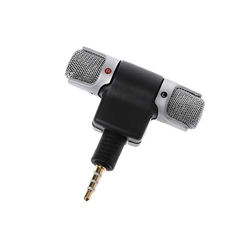 Comidox 1PCS Mini 3.5mm Jack Microphone Stereo Condenser Microphone For Mobile Phone Voice Recording Internet Chatting