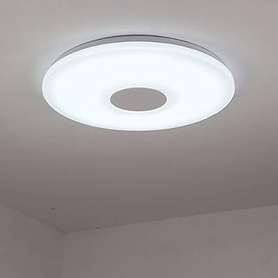 NATSEN Modern Ceiling Lights LED 12W Flush Mount Ceiling Light Fixture for Kitchen Bedroom White Light 6400K