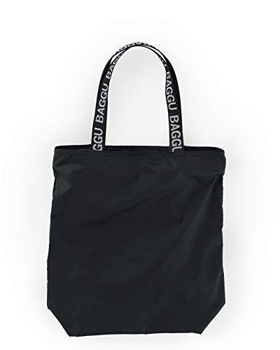 BAGGU Ripstop Tote, Super Versatile Lightweight Nylon Tote, Black