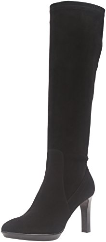 Aquatalia Women's Rumbah Suede Winter Boot, Black, 9.5 M US