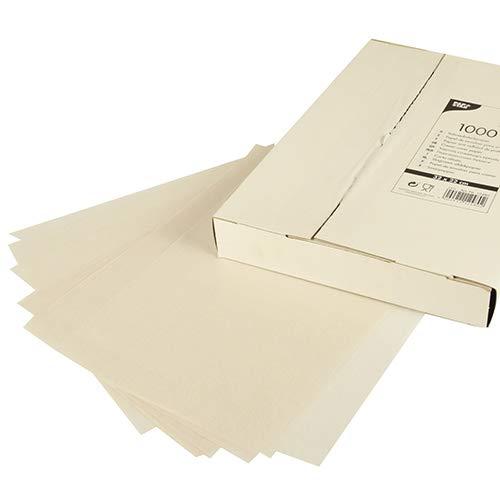 5000 Blatt Sahneabdeckpapier 32 cm x 22 cm weiss