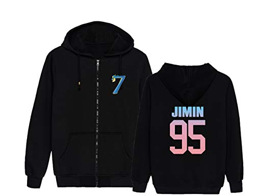 BTS Hoodies Hip Hop Zip Sweatshirt Signature BTS MAP van de ziel 7 Gedrukt Pullover College Jumper Sweater Outwear Cozy Tops Suga Jin Jimin Jung Kook J-Hope Rap-Monster V
