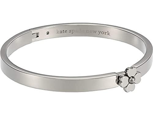Kate Spade Metal Thin Hinged Bangle Bracelet One Size Silver